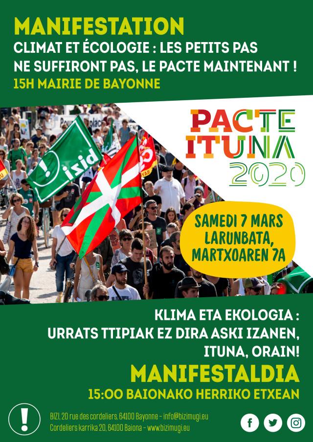 Municipales 2020 : manifestation familiale et revendicative samedi 7 mars ! / Martxoaren 7an, larunbatez, manifestaldi familial eta aldarrikatzailea @ Mairie Bayonne