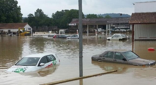 Inondations à Saint-Palais