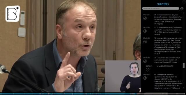 Cliquer sur l'image pour revoir la vidéo de l'extrait concerné lors de la séance publique du jeudi 13 décembre 2018.