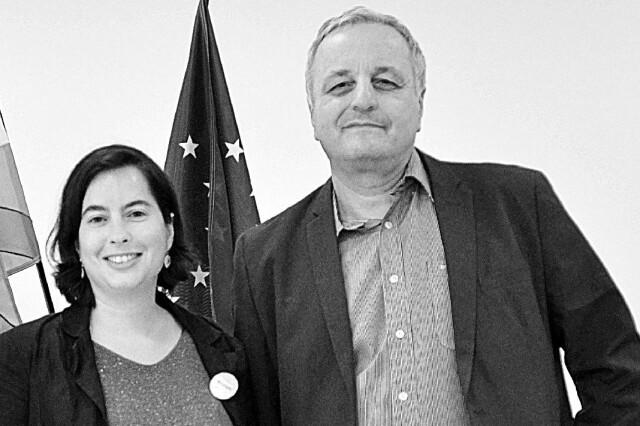 Sophie Bussière et François Alfonsi à Bayonne en mai 2019, co-listiers pour les élections européennes.
