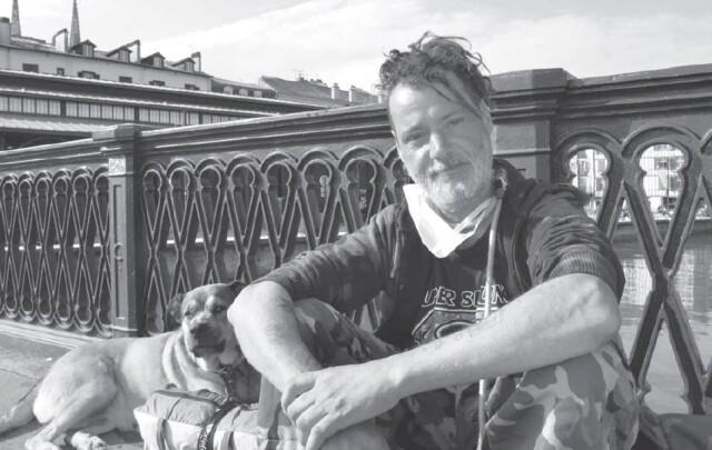 """""""Mano"""" vit dans la rue depuis 10 ans et à Bayonne depuis sept ans."""