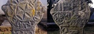 La stèle de Catharine Demate au cimetière d'Azkonbegi.