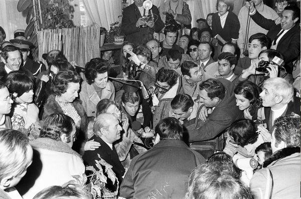 Le consul allemand Saint Sébastien Eugen Beihl est libéré par ETA, le 25 décembre 1970, après 25 jours d'incarcération (Daniel Velez arg.)
