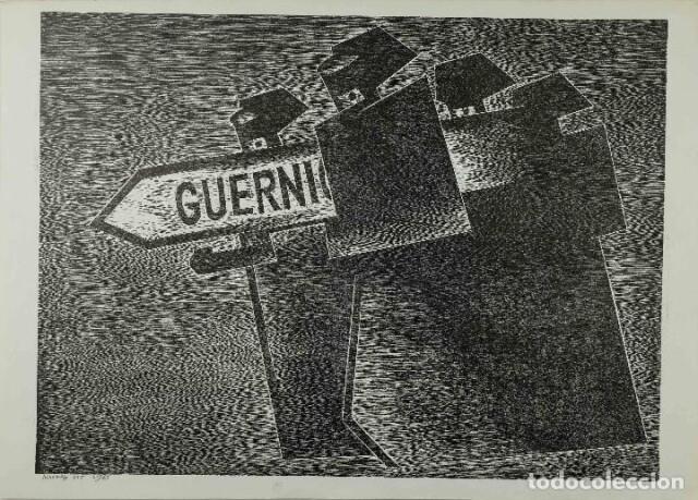 Gravure du sculpteur et peintre Agustin Ibarrola (1976)