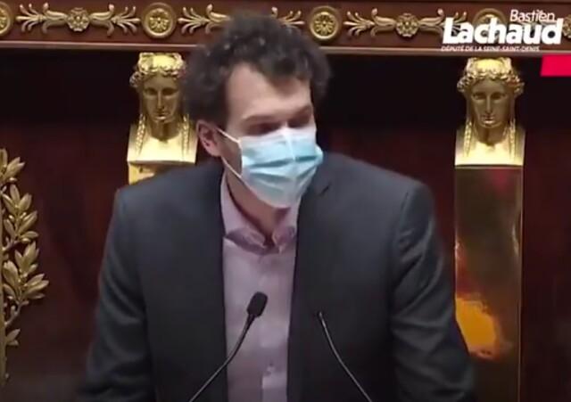 Cliquer sur l'image pour voir la vidéo de l'intervention de Bastien Lachaud, député de la France Insoumise le 8 avril à l'Assemblée Nationale.