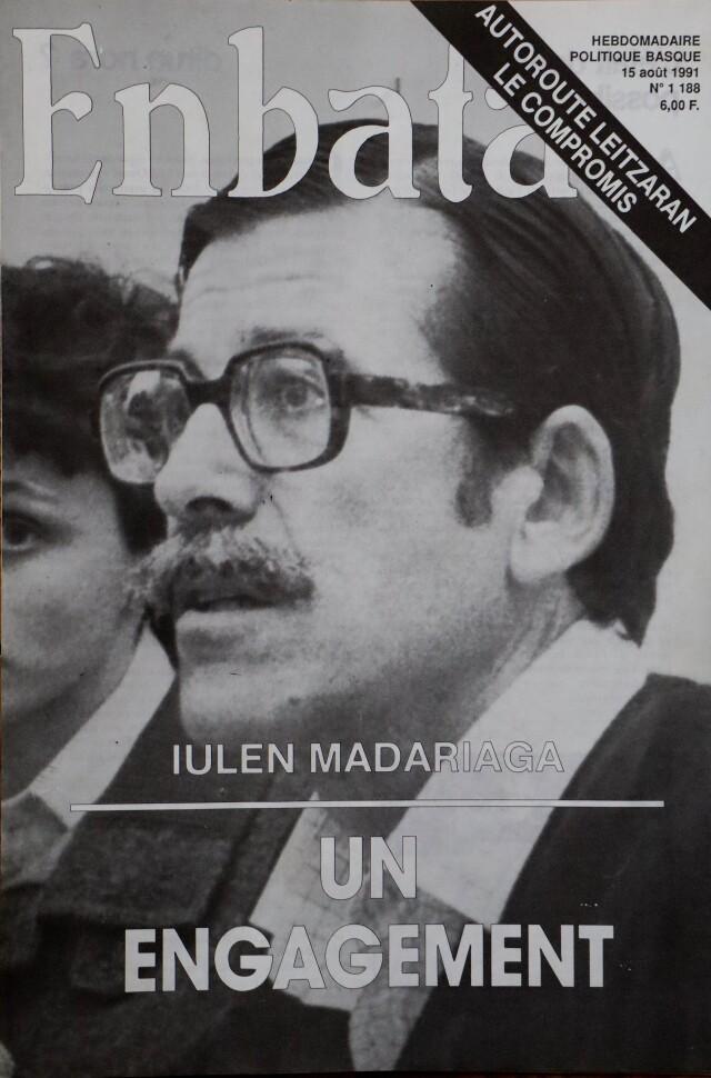 Couverture d'Enbata : Iulen Madariaga, aux côtés de l'avocate Me Fando.