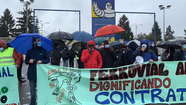 34 jours de grève des travailleurs immigrés de Ferrovial.