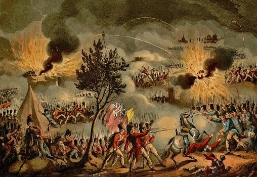 Le 14 avril 1814, combats à Bayonne, gravure de T. Sutherland et D. Havell.