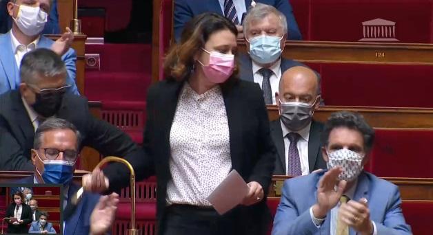 Cliquer sur l'image pour voir l'intervention de Sylvia Pinel, députée du Lot-et-Garonne, appartenant au même groupe parlementaire que Paul Molac, Libertés et territoires.