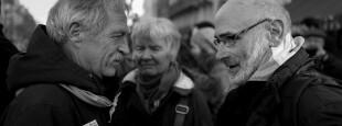 Du Larzac aux Artisans de la paix, José Bové et Mixel Berhocoirigoin, deux parcours qui se sont régulièrement croisés. (©Zigor)
