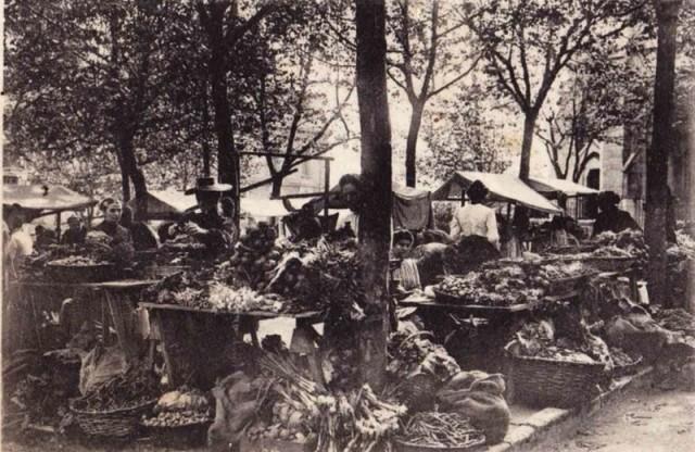 XX. mende hasieran Biarritzen merkatua